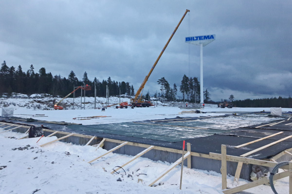 Montagestart av Biltemabutik i Hudiksvall